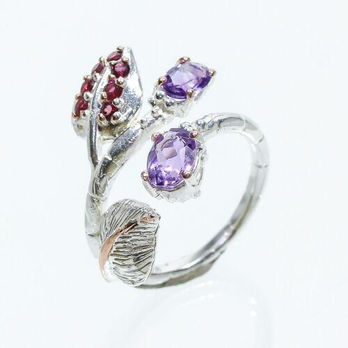 Jewelry Set 6x4 naturel AMETHSYT 925 Sterling Silver rvss 08 Ensemble Limité!!