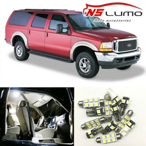 12x Interior Led Light Bulbs Package Kit For Ford Excursion 2000 2005 White Dome Ebay