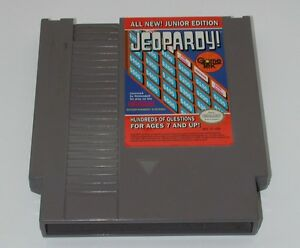Jeopardy-Junior-Jr-Nintendo-NES-Classic-Original-Game-Tested-Cleaned-Cart-only