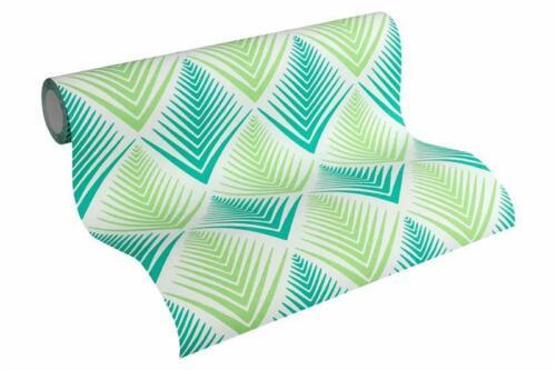 2,43 EUR//m² Vliestapete Life grafisch grün weiß