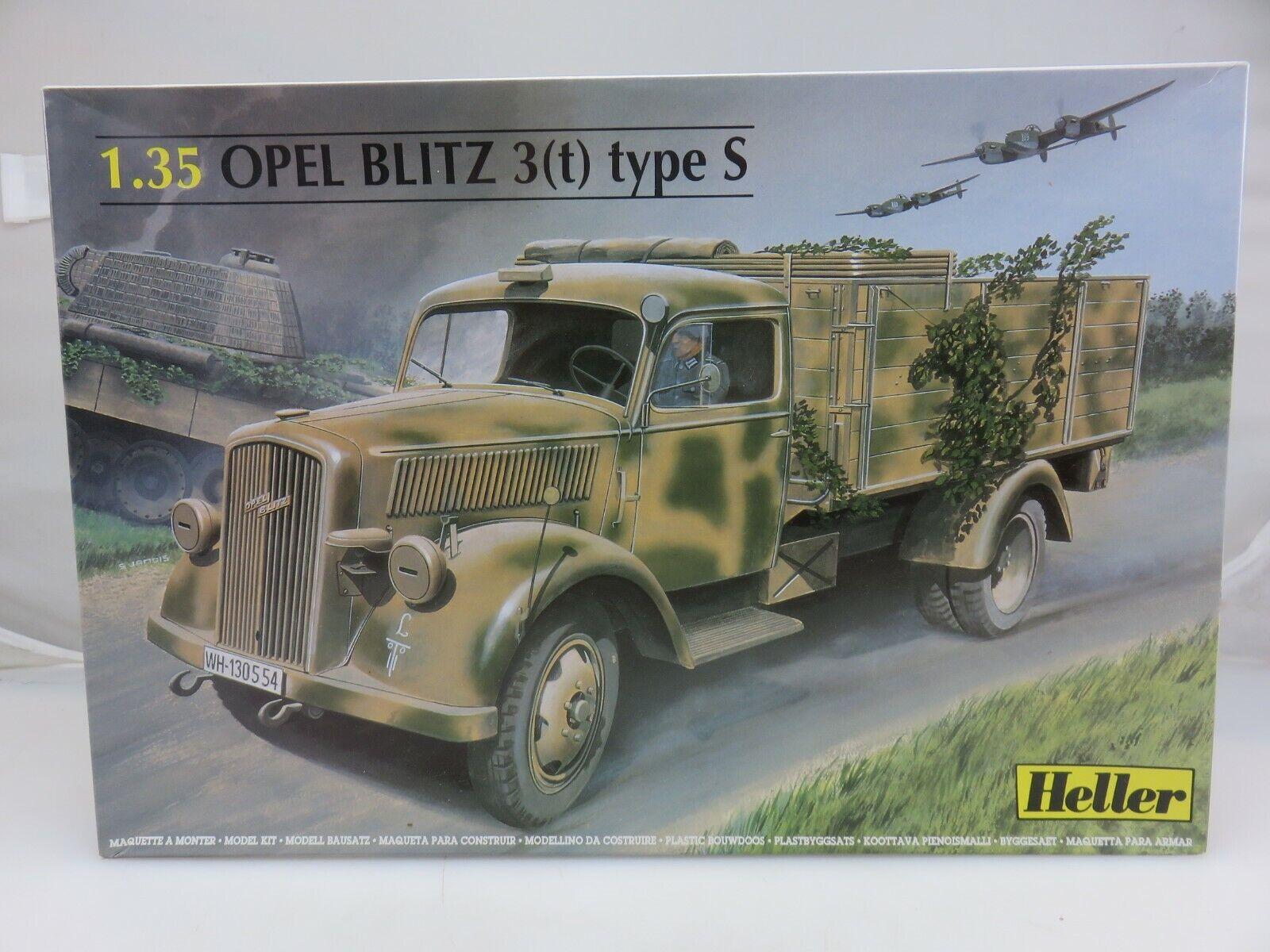 Heller OPEL BLITZ 3(t) Type S 1 35 Scale Plastic Model Kit 81128 UNBUILT