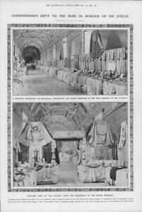 1908-Antique-Print-ITALY-Vatican-Christendom-Pope-Jubilee-Pontifical-52