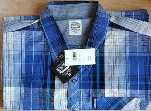 lambretta mens shirt check blue BIG sizes 3xl rrp £45