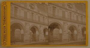 Orologio-IN-Del-Louvre-Parigi-Francia-Foto-Stereo-L44-Vintage-Albumina-c1870