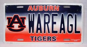 Auburn Tigers War Eagle WAREAGL Car Truck Auto Vanity Tag License Plate NCAA