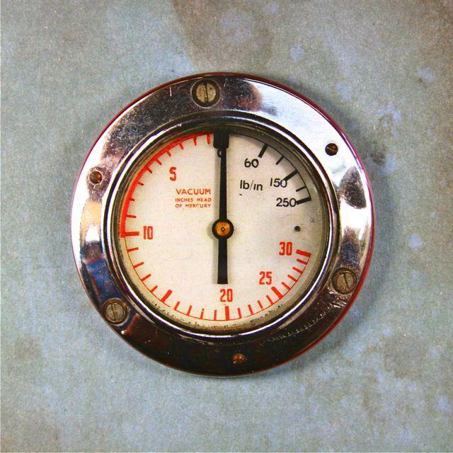 "Vintage Vacuum Gauge 2 1/4"" Fridge Magnet Steampunk"