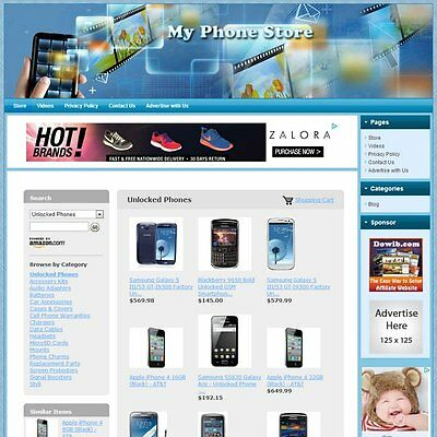 PHONE STORE - Highly Profitable Online Business Website, Amazon+Google+Dropship!
