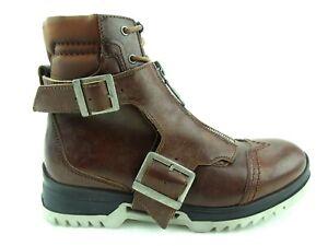 Diesel-D-Klosure-Hommes-Bottes-Cuir-Chaussures-Braun-Homme-Gr-41