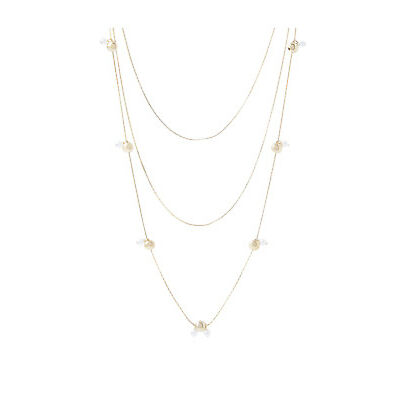 NEW Piper Modern Pearl Station Necklace PIPJ0822 Gold