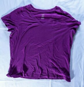 new MOSSIMO #M164 Women/'s Size S Cotton Casual Solid Light Purple V-Neck T-shirt