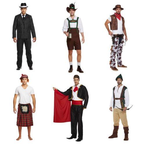 MÂLE ADULTE ROBE FANTAISIE HOMME Dressing Up Costume Tenue Gangster Cowboy Matador