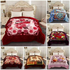 Fleece Blanket Heavy Thick Warm 2 Ply Printed Bed Blanket