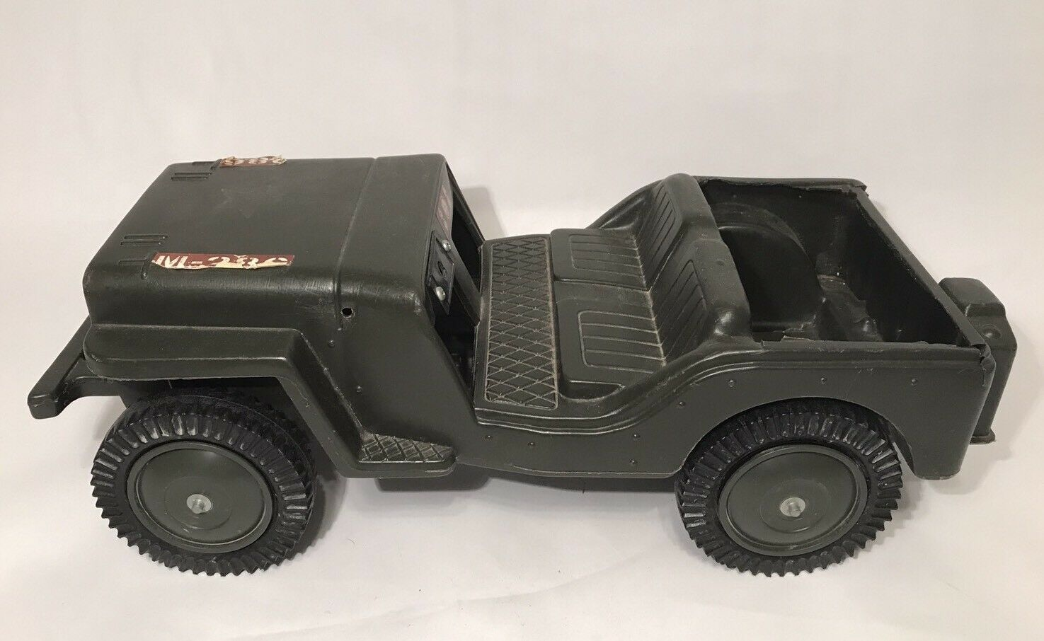 Vintage GI Joe Military Combat Jeep M-286 Plastic 20  Vehicle 1975 For Parts
