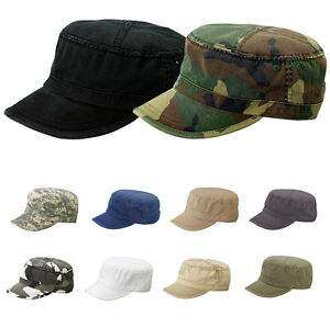 Details about Army Cap Cadet Military Patrol Castro Hat Men Women Golf  Driving Sports Baseball