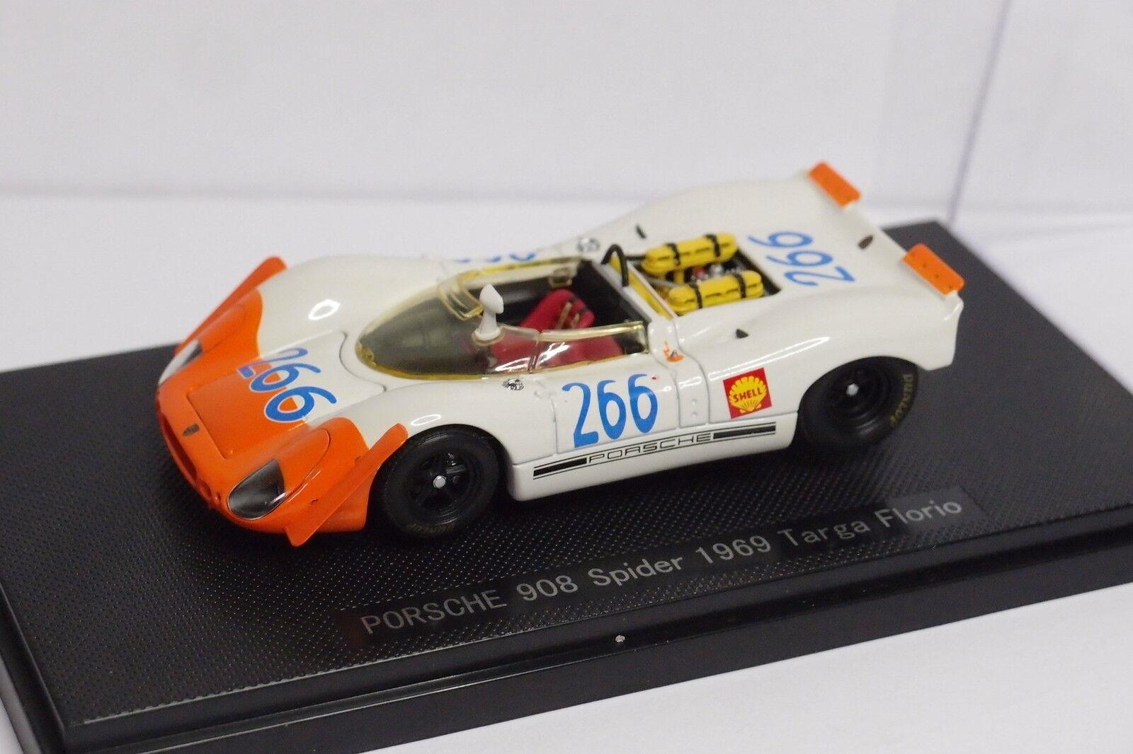 EBBRO PORSCHE 908 SPIDER  266 TARGA FLORIO 1969 1 43