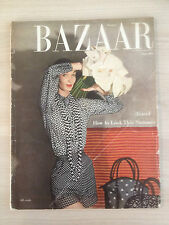 "Magazine Harper's BAZAAR US June 1952 ""Travel"" Collection Vintage Fashion Mode"