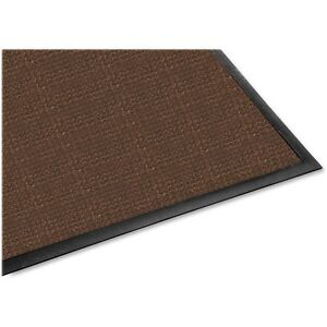 Genuine Joe Indoor/Outdoor Mat Waterguard Rubber Back 4\'x6\' Brown ...