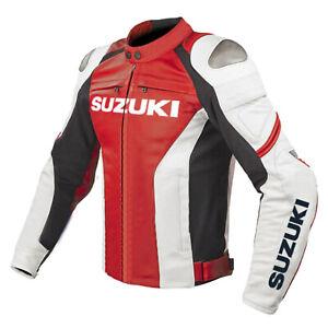 Suzuki-GSXR-Motorcycle-Jackets-Leather-Biker-Racer-Motorbike-Jacket-Sport-Adults