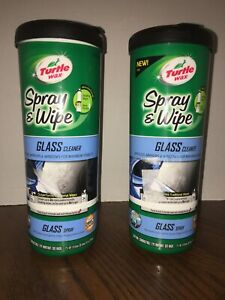 LOT-OF-2-TURTLE-WAX-50938-SPRAY-amp-WIPE-GLASS-CLEANER-ALL-IN-ONE-PACKAGE-NEW-SS