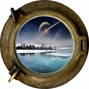 Huge-3D-Porthole-Fantasy-City-View-Wall-Stickers-Film-Mural-Decal-Wallpaper-69