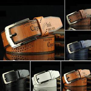 FJ-Men-039-s-Fashion-Casual-Faux-Leather-Hollow-Waistband-Business-Waist-Belt-Cheap