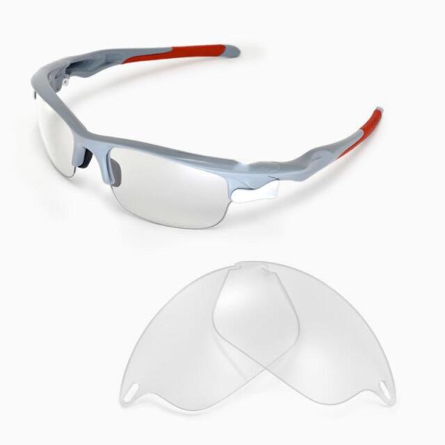 2afbc34c06f Walleva Clear Replacement Lenses for Oakley Fast Jacket Sunglasses ...