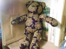 Sugar Loaf Blue Bear Plush Teddy SPIDER WEBS BLACK GOLD CHINA POLYESTER 3+