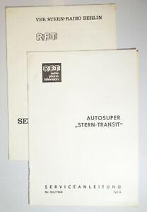Service Anleitung Stern-Transit Teil A & Teil B 1968 RFT  (D9