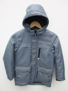 Fantastic-NEXT-Boy-039-s-Blue-Chambray-Hooded-Parka-Coat-with-Quilted-Lining-8-years