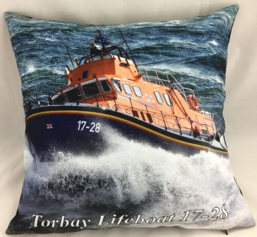 Imprimé Photo De Torbay Lifeboat 17-28 thème Evans Lichfield Coussin Couverture