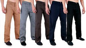 Para-Hombre-Azteca-Chino-Pantalones-Pantalones-Ajustados-clasico-de-Superdry-de-28-40-42-44-46-48