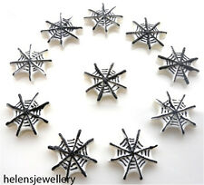 10 GORGEOUS SPIDERS WEB KITCH CABOCHONS KAWAII DECODEN - FAST SHIPPING