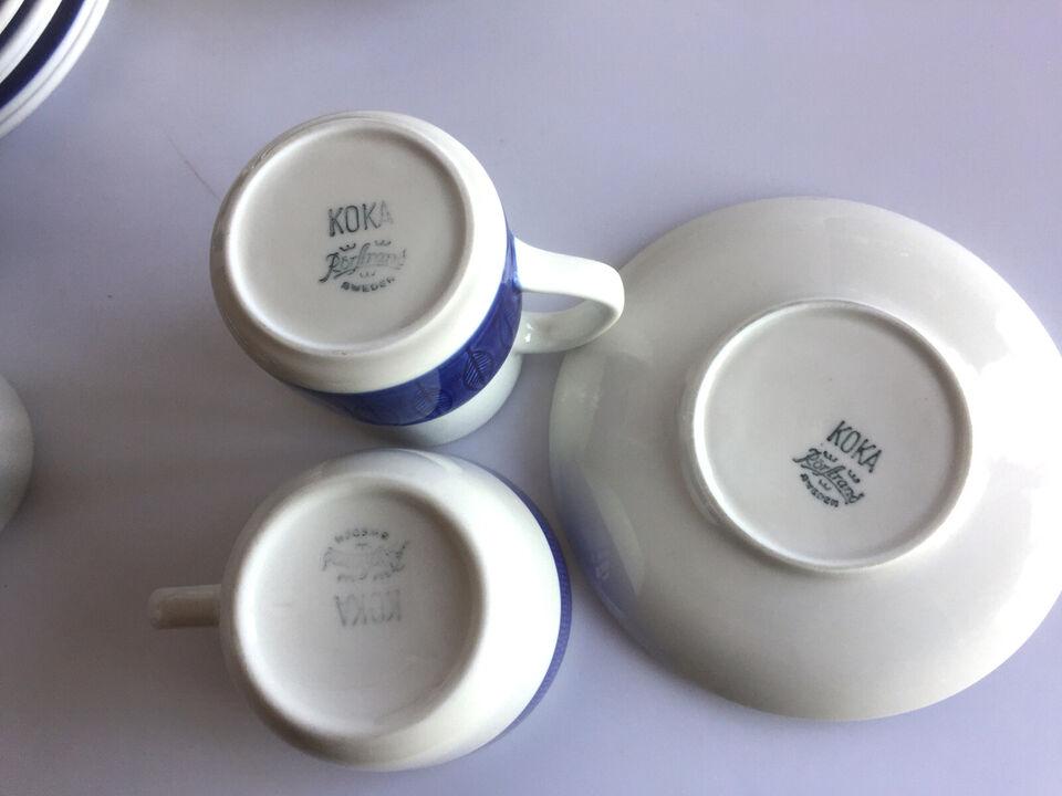 Rørstrand Blå Koka kaffe service