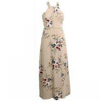 Womens Holiday Sleeveless Ladies Maxi Long Summer Print Beach Dress UK Size 6-14