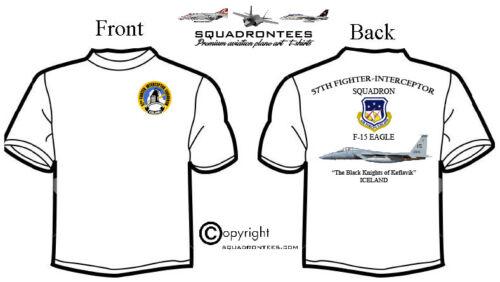 57th FIS F-15 Eagle Squadron T-Shirt Premium Art