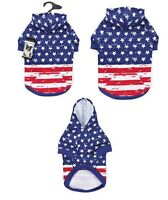 Dog Hoodies Distressed American Flag Look Red White & Blue Usa Stars & Stripes