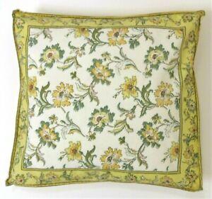 Vintage April Cornell Accent Pillowcase Floral Design 15 by 15