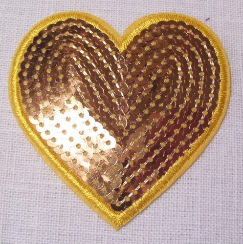 au choix ÉCUSSON PATCH SEQUIN thermocollant ** 7 x 7 cm ** COEUR Valentin