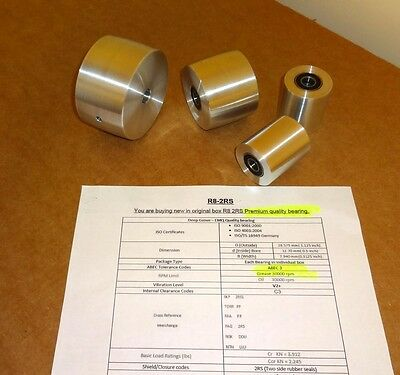 "Knife Making:Belt Sander Wheel Set 5/8"" drive wheel bore. Premium ABEC3 Bearings"