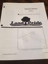 Land Pride Rear Blades Rbt40 Operators Owners Manual