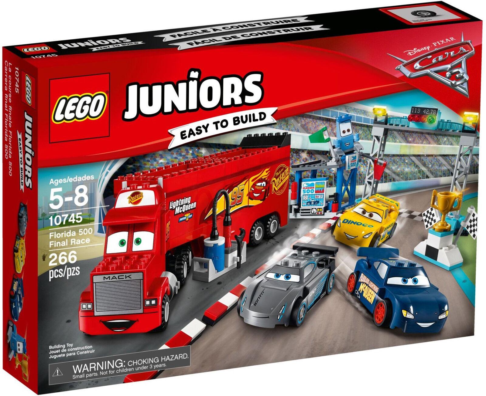 Lego Juniors - 10745 finale Floride 500 Floride 500 Final Race-NOUVEAU & NEUF dans sa boîte