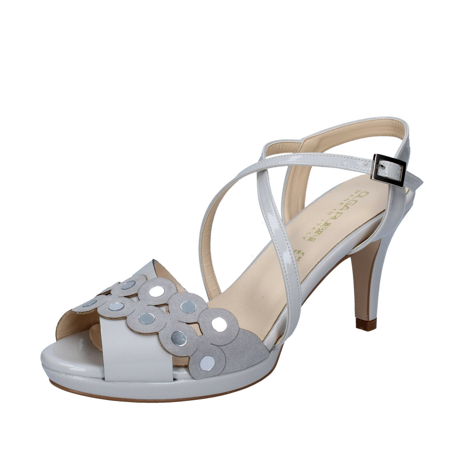 Women's shoes Olga Rubies 39 EU Sandals Grey Suede Paint by358-e