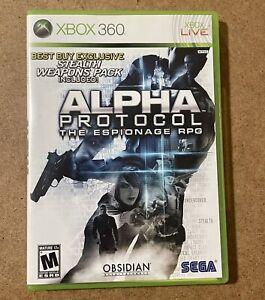Alpha Protocol Espionage (Microsoft Xbox 360, 2010) CIB Complete Very Good