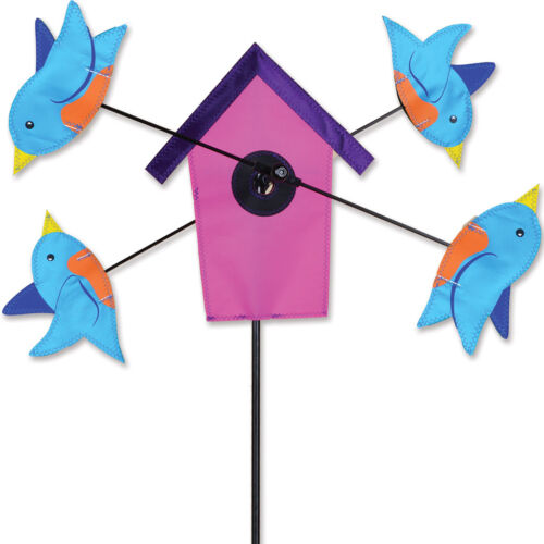 "Bluebird Birdhouse Staked Wind Whirli Wing 9/"" Whirligig Spinner 14...PR 21896"