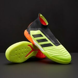 Details about Adidas Predator Tango 18+ IN Indoor Soccer Shoes Primeknit Yellow Black DB2052