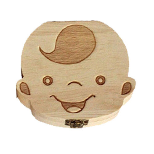 Wood Tooth Box 4 Patterns Baby Kids Tooth Box Storage Baby Milk Teeth Collect AL
