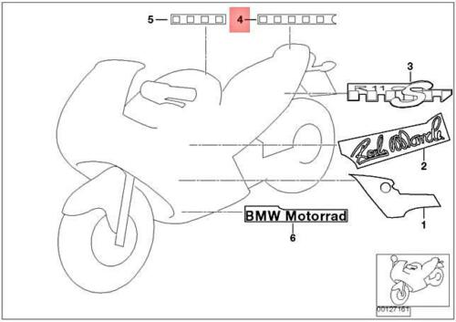 Genuine BMW 259 0432 Sticker Pillion-Passenger Cover 51147675678