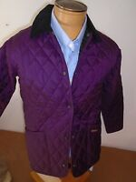 Barbour Shaped Liddesdale Quilted Jacket NWT USA Size 8 UK size 12 $179  Purple