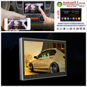 Android-8-1-Octa-Core-1-Din-10-1-034-Touch-Screen-Car-GPS-3G-4G-BT-Wifi-DAB-2G-32G