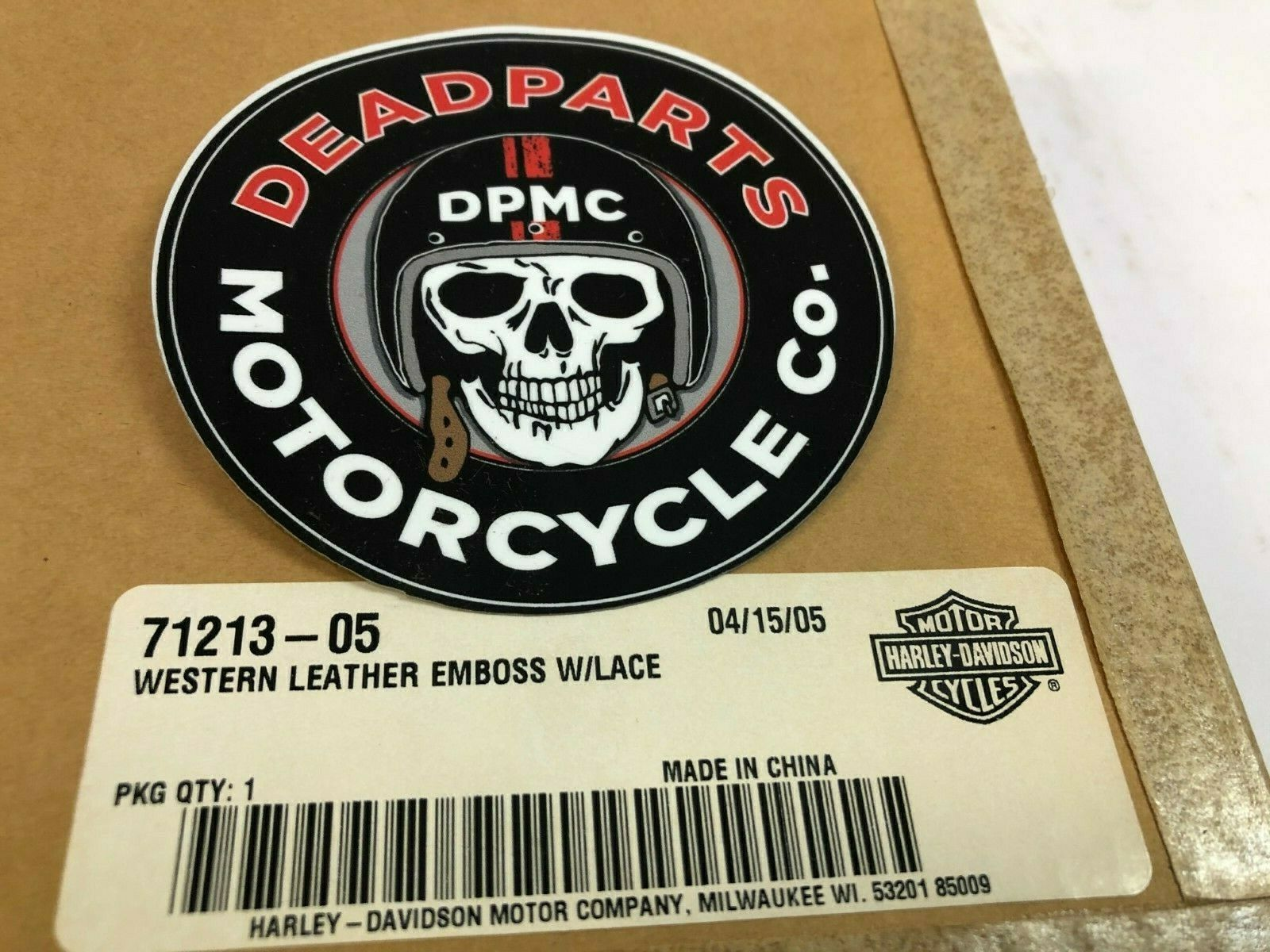 Harley Davidson Oem Nos Leather Dash Insert Deuce FXSTD 71378-05